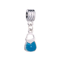 Blue Purse Handbag Dangle Fit All Brands Beads Charms Bracelets