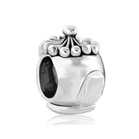 Silver Plated Small Teapot European Infant Charm Bead Charm Bracelet