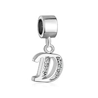 Letter Bracelet Charms Initial D Dangle Alphabet European Bead