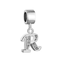 Letter Bracelet Charms Initial R Dangle Alphabet European Bead