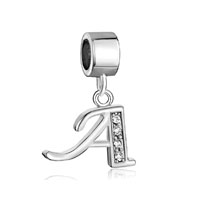 Letter Bracelet Charms Initial A Dangle Alphabet European Bead