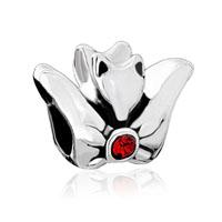 Birthstone Charms Fly Fox Red Crystal July Birthstone Beads
