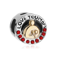 Mother Daughter Charms Swarovski Elements