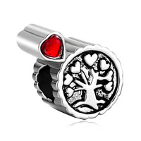 Heart Charm Bracelet Tree Life Awesome Red Crystal Love European Bead