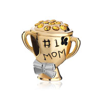 Mom Charms Golden Cup Beads