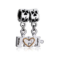 Mother Daughter Charms Love Beads