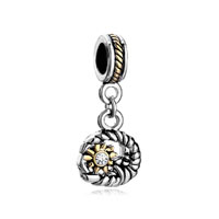 Dangle Sun Clear Rhinestone Crystal Moon Beads Charms Bracelets