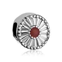 Daisy Floral European Bead Charms Charms Bracelets Sienna Drip Gum