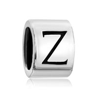 Silver Plated Letter Initial Z Alphabet Beads Charms Bracelets Fit All Brands