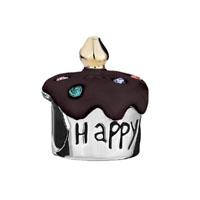 Birthday Cake Happy B Day Colorful Crystal Dark Red Drip Gum Bead Gift