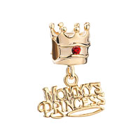 Mother Daughter Charms Crown Swarovski