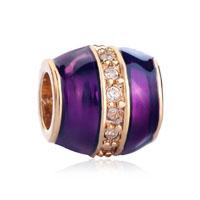 Purple Clear White Crystal Golden Bead Designer Charm Bracelets Gift