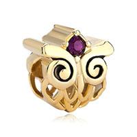Beads Filigree Lovely Body Golden Harry Potter Fan Owl Bracelet Charm