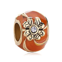 Orange Four Leaf Celtic Claddagh Irish Charm Clover Faberge Egg