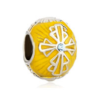 Topaz Celtic Cross Bracelet Charm Crystal Faberge Egg Charm Bracelet