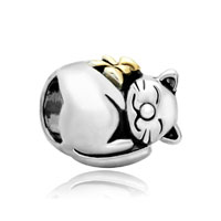 Mothers Day Gifts 22k Gold Fortune Cat Animal Charm For Bracelet Charm