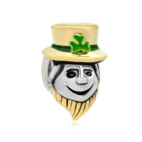 Pugster 22 K P Funny Magician St Patrick For Two Tone Plated Beads Charms Bracelets Fit All Brands