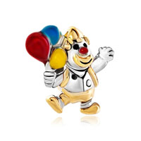 Gold Clown Jumpping Colorful Balloon Bead Designer Charm Bracelets