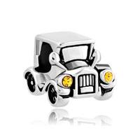 Topaz Yellow Headlight Antique Bubble Car Lucky Charms Bracelets