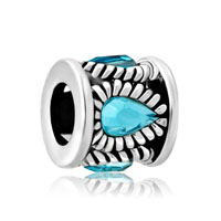 Aquamarine Blue Swarovski Crystal Royal Petals Lucky Charm Bracelets