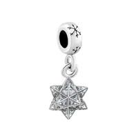 Silver Snowflake Charm Bracelet Spacers Crystal Pave Star Bracelet