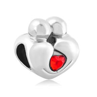 Mother Daughter Charms Heart Swarovski