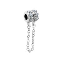 Star Bead Chain Link Charms For Bracelets Pewter Lock Charm Bead