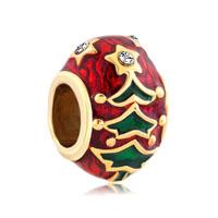 Gold Christmas Charm Bracelet Tree Easter Faberge Egg Bracelets