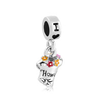Dangle For Multicolor Summer Tshirt I Love Hawaii Beads Charms Bracelets Fit All Brands