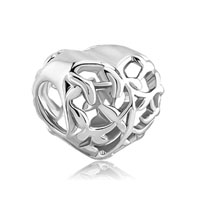 Pugstter Filigree Heart Charm Paloma Picasso Peace Olive Leaf Bead