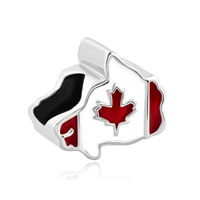 Maple Leaf Patriotic Proud To Be Canada Flag Of Canada Map Beads Crharms