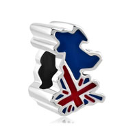 Jack Patriotic Proud To Be British Flag Country Of Uk Map Lucky Bead