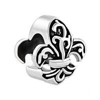 Fleur De Lis Charm Bracelet France Flower Bead Charms Bracelets