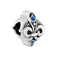 Birthstone Antique D Angel Wing Blue Rhinestone For Beads Charms Bracelets Fit All Brands