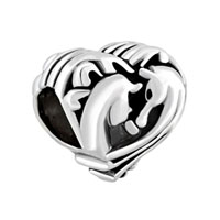 Filigree Heart Couples Horse Best Friends Forever For Beads Charms Bracelets Fit All Brands