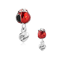Bright Red Rose Flower Charms Bracelets Love You Be Mine Spring