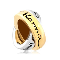 Link Charm For Couples Ring Words Lkarma What Goes Around Comes Around