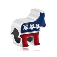 Pugster Silver Plated The Donkey American Party Usa For Beads Charms Bracelets Fit All Brands
