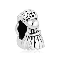 Silver Plated Golf Billiard Ball Tennis Badminton Sports Lover Beads Charms Bracelets Fit All Brands