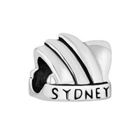 New Australia Sydney Opera House Silver P Beads Charms Bracelets Fit All Brands