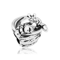 New Silver Plated Hermit Crabs Animal For Beads Charms Bracelets Fit All Brands