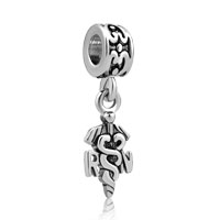 Cross With Caduceus And Rn Nurse European Dangle Charms For Bracelets