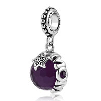 Mom Plated Light Dark Purple Swarovski Elements Ball Stopper Beads