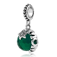 Mom Plated Light Gree Swarovski Elements Ball Stopper Beads
