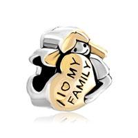 Sterling Silver Mother American Girl Charm Bracelet I Love My Family Heart