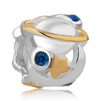 Sterling Silver Blue Rhins Crystal Astronomy Sun Moon Star Universe Lucky Charms