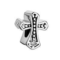 White Crystal Cz Religion Celtic Claddagh Irish Cross Charms April