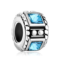 Spacers Aquamarine Crystal Rhinestone Square For Beads Charms Bracelets Fit All Brands