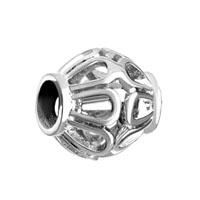 Silver Filigree Vintage Antique Oval European Bead Charms Bracelets