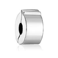 Silver Plated Classic Clip Lock Round Stopper Charm Bracelet Spacers